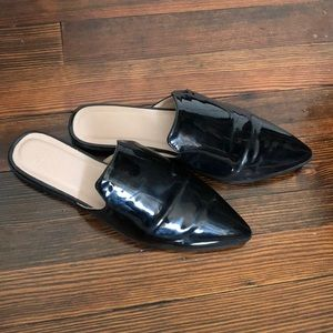 ASOS patent-leather flat mules
